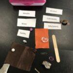 Geology class. Identifying Minerals. Gems. Birthstones.